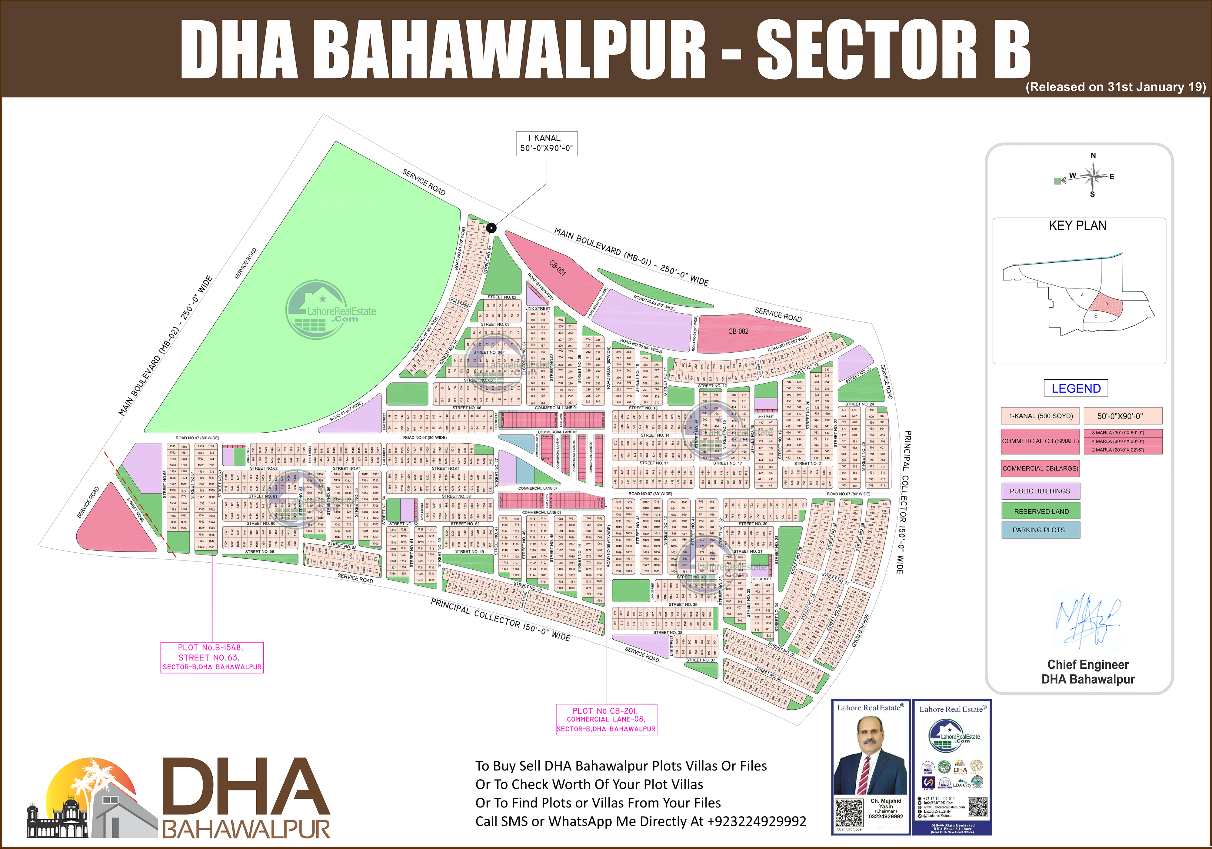 DHA Bahawalpur Ballot Results Maps Available On LRE LRE115739 on