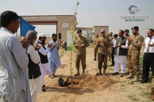 dha peshawar main gate inugauration (1)