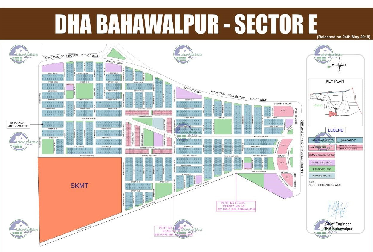 Maps of DHA Bahawalpur Sector E, F & G are available now ...