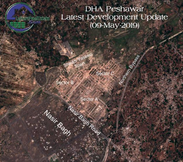 DHA Peshwar Map Latest Development Update