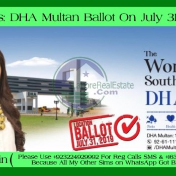 DHA Multan Balloting News Map Link - Daily Plot/File/Villas