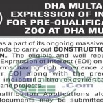 Construction of Zoo in DHA Multan Latest Update